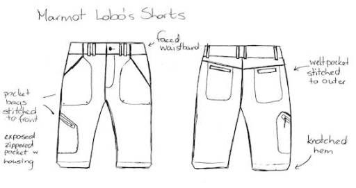 Lobo's shorts sketch