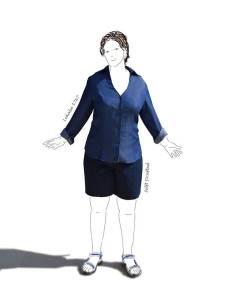 tencel shirt, cotton shorts
