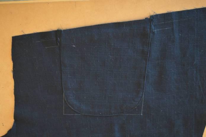 inside of back pocket