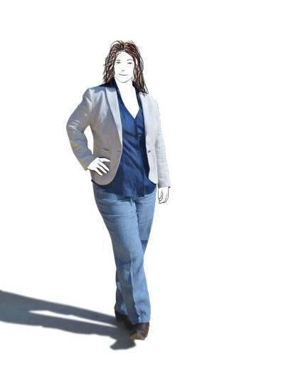 linen jacket, tencel shirt & linen jeans