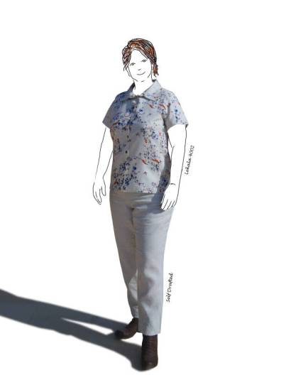 floral shirt with the linen pants
