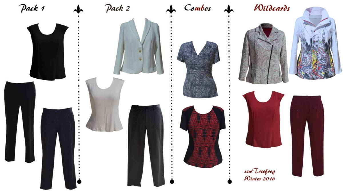 Winter sewing - the complete 12 piece wardrobe