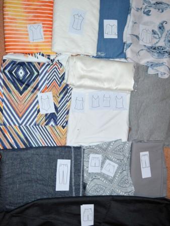 Option 2: Orange, blue and grey