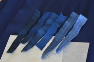 shades of blue - getting the dye mix right