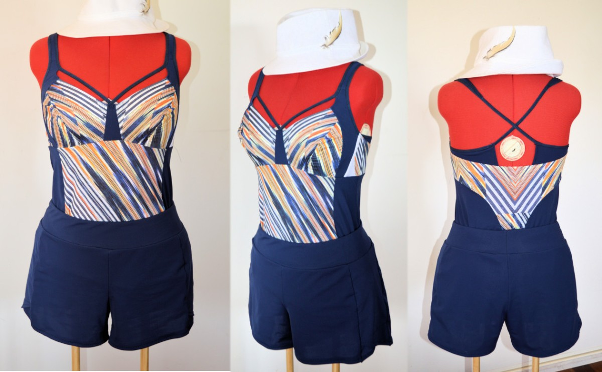 Blue and orange tankini (Merckwaerdigh MIX5L)