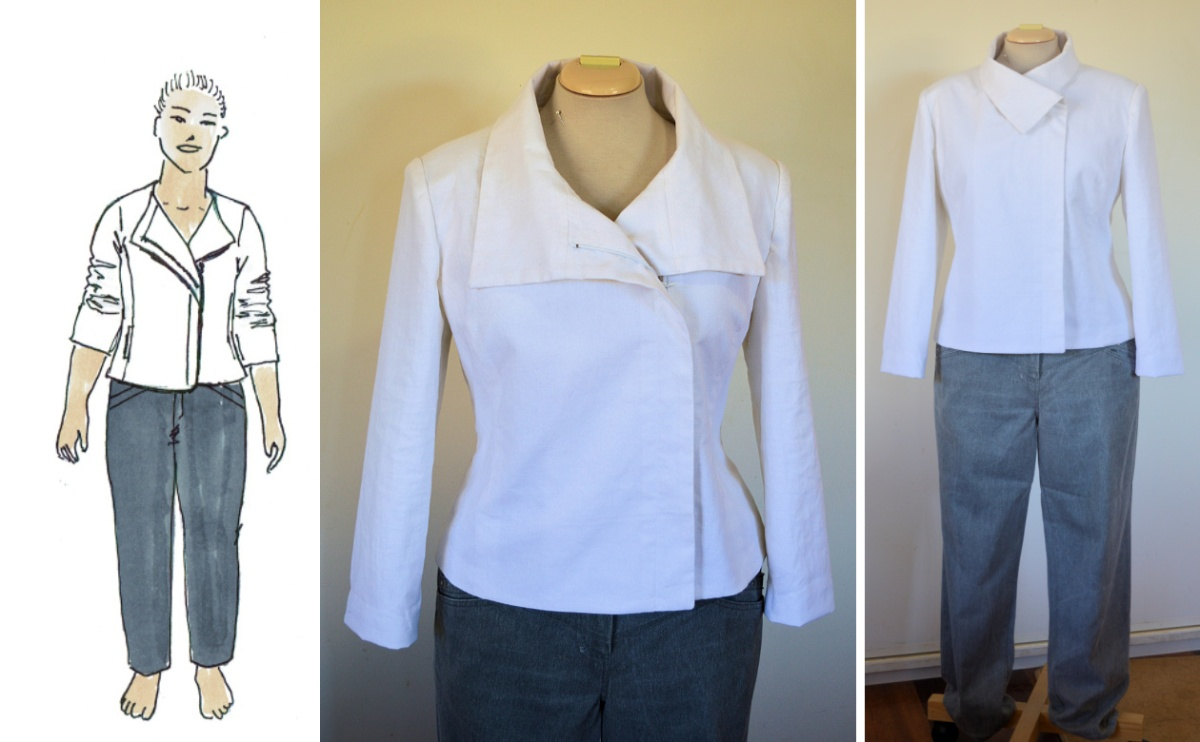 Butterick 5958: White linen jacket