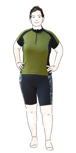 jersey and shorts - front view