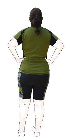 jersey and shorts - back view