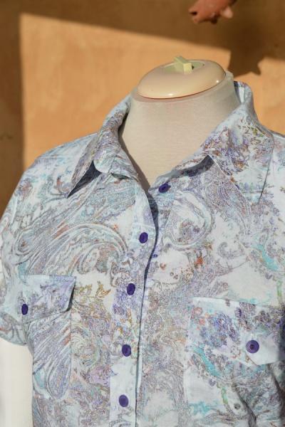 close-up of collar & placket
