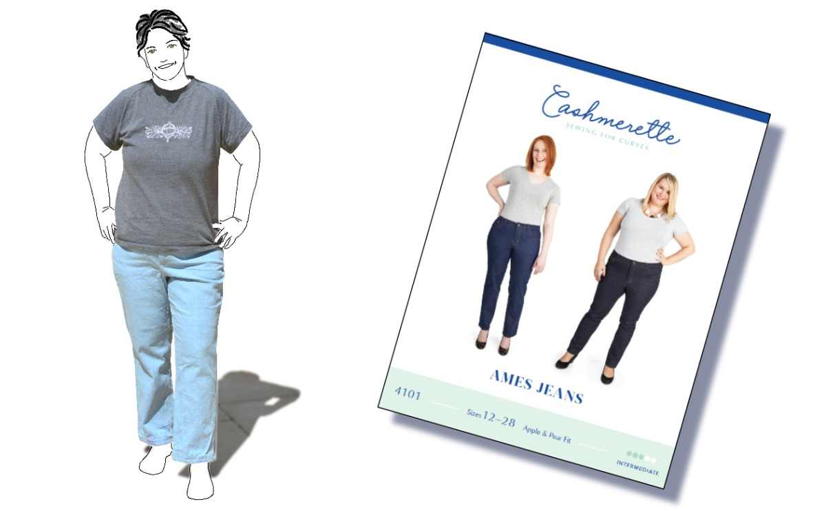 Pattern Review: Cashmerette Ames Jeans