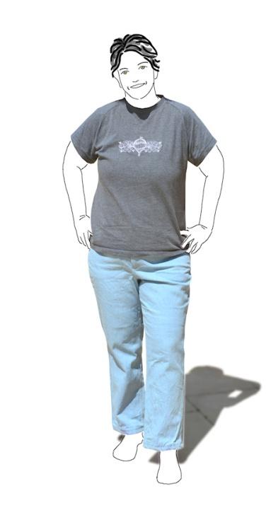 Cashmerette Ames jeans - front