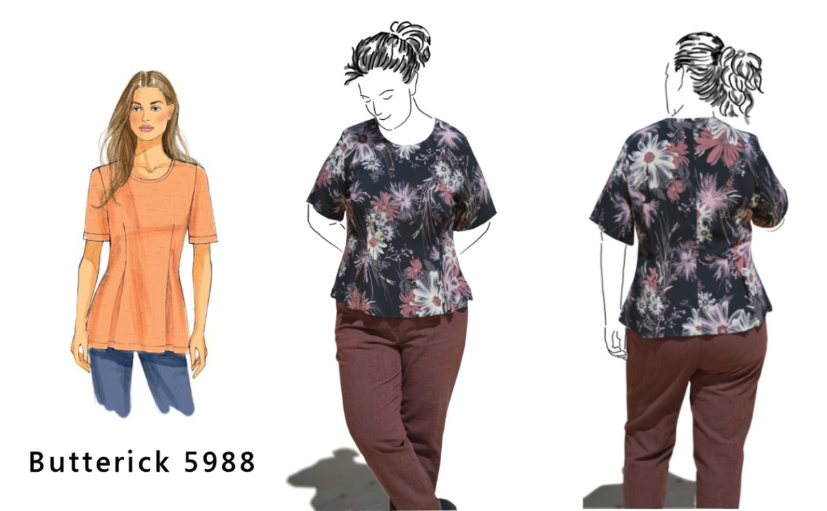 Butterick 5988 Floral Top