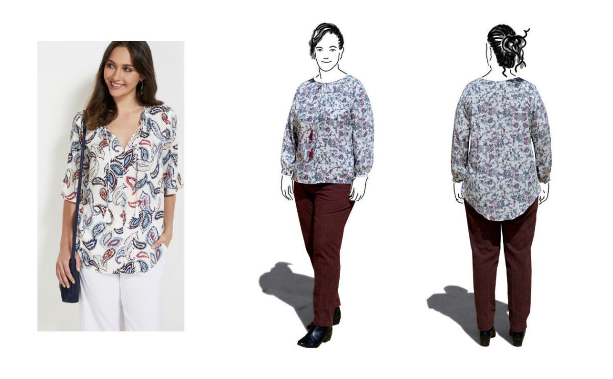 Sew the look : Lekala 4420 Blouse