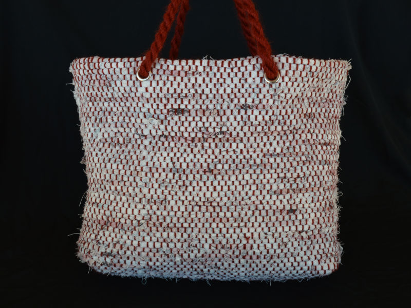 finished rag doubleweave bag