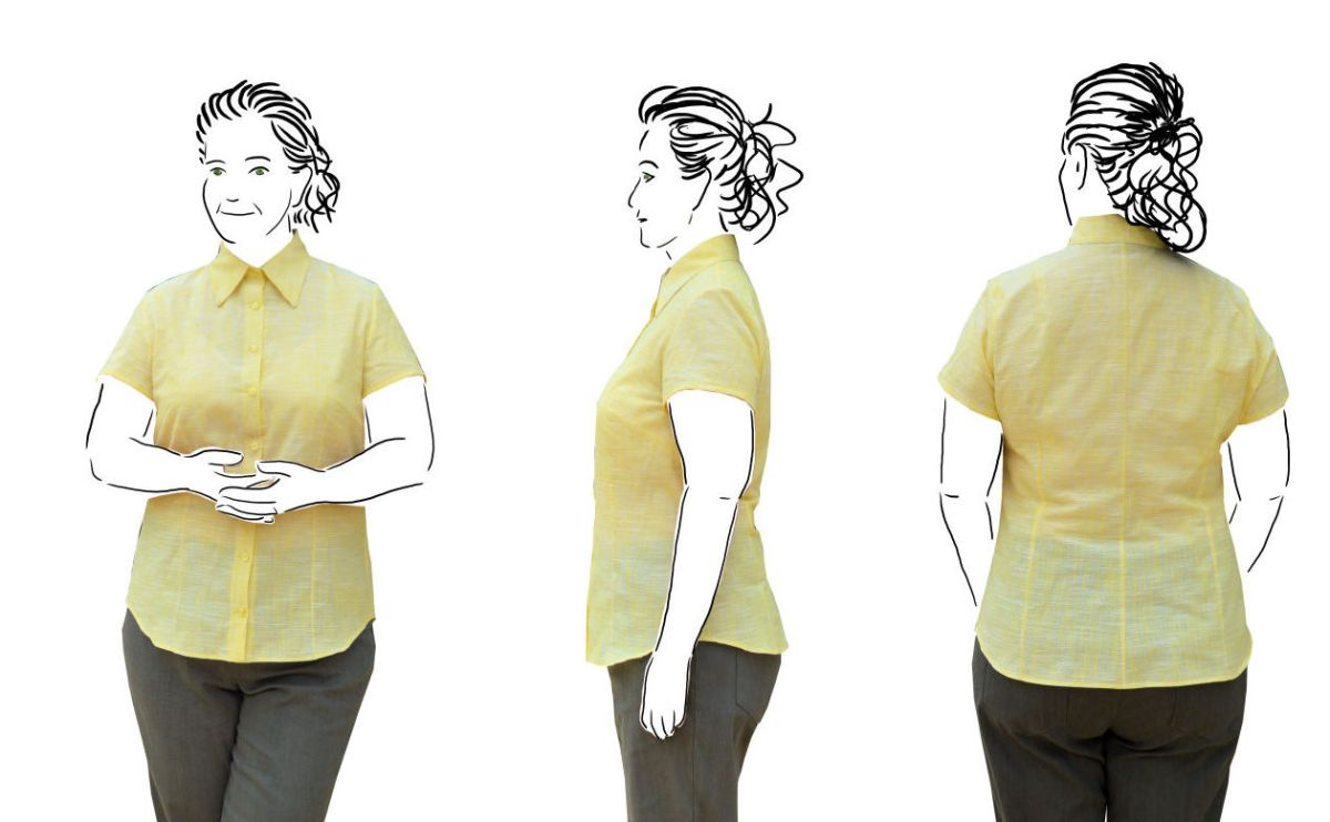 Yellow Shirt - Drafted from scratch