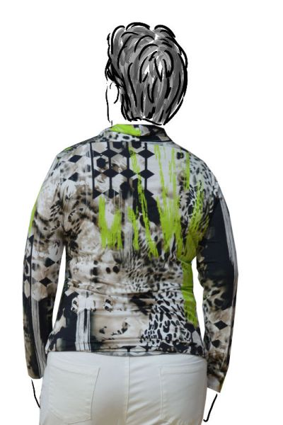 back view of animal print top