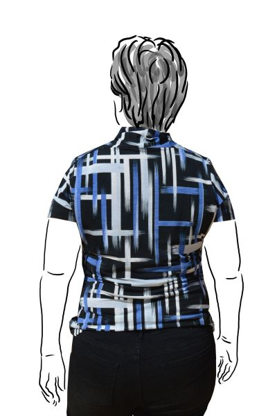 back view of brushstroke top