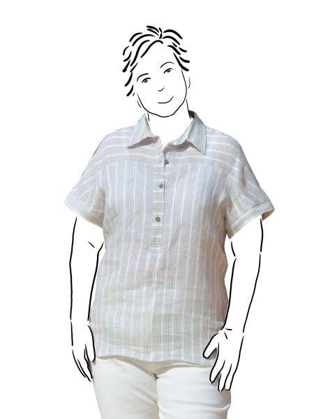 self drafted linen shirt