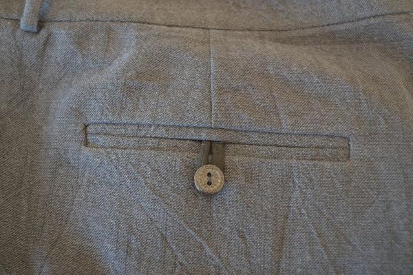 Self drafted pants - back pocket