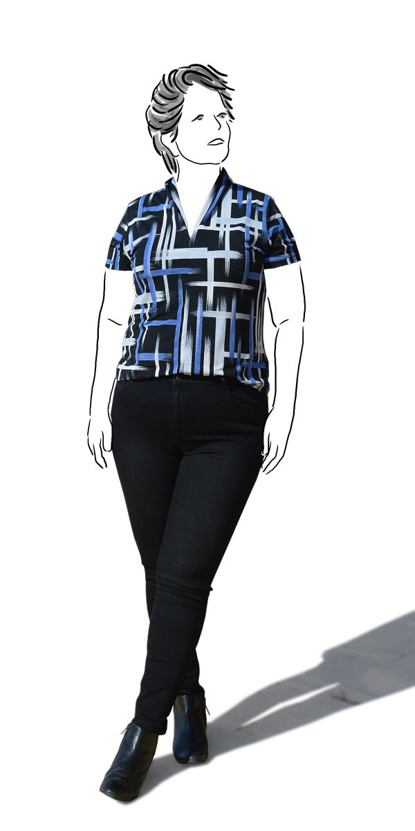 Cashmerette Ames Black skinny jeans - front