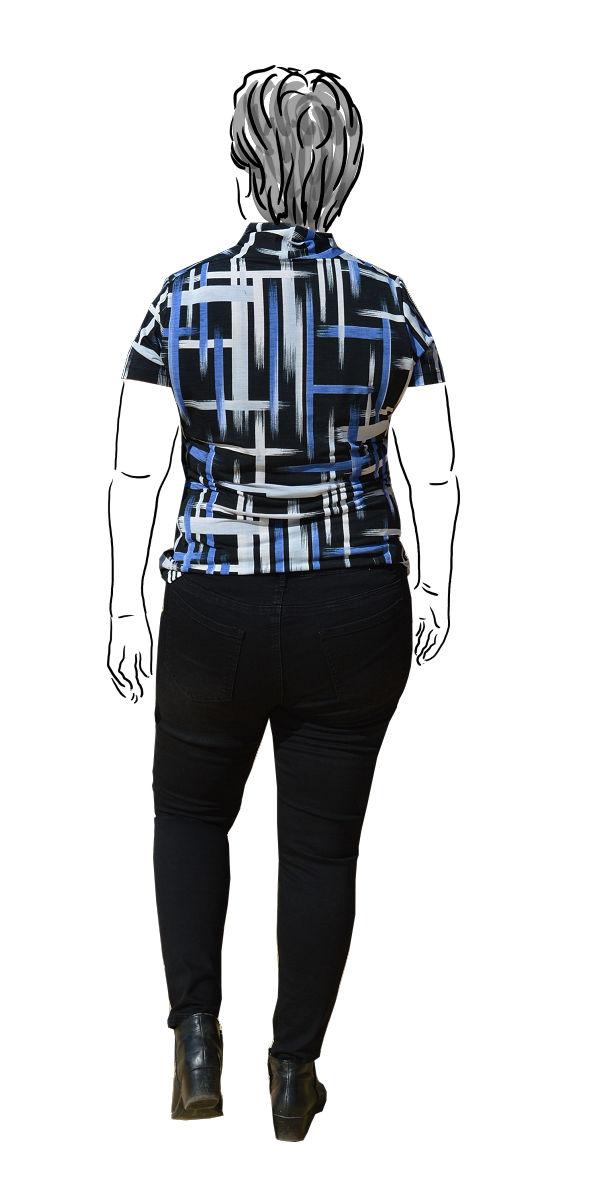 Cashmerette Ames Black skinny jeans - back