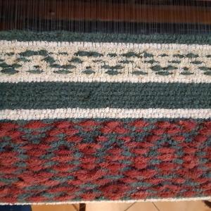 Rag rug detail - old bath towels
