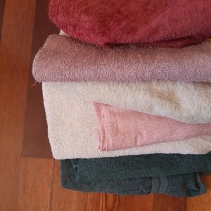old towels for rag rug weaving