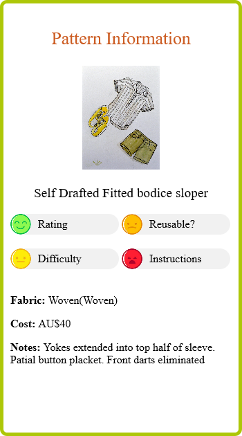 Linen Henley Report Card Pattern Info