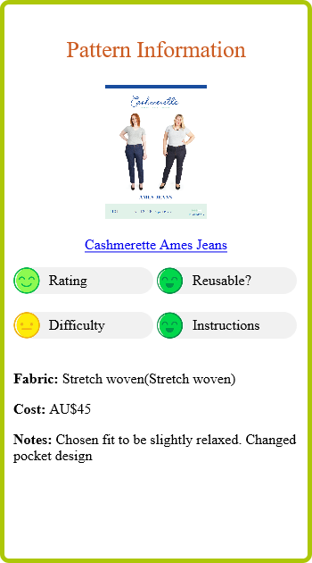 Off White Jeans Report Card Pattern Info