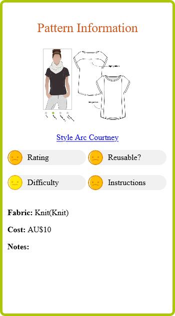 Olive T Pattern Info